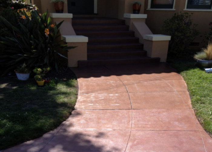 Concrete Staining & Overlay Entrance and Pathway