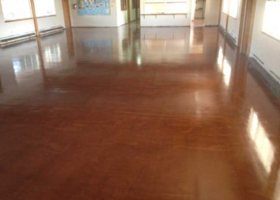 Concrete Staining and Overlay at Church